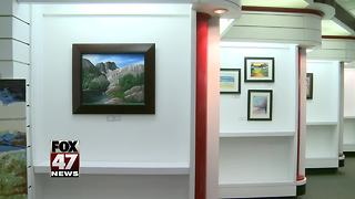 Local artists' work on display in Lansing Mall - Video