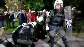 Second day of clashes in Greece over 'blasphemous' play - Video