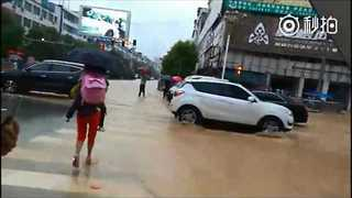 Severe flooding Hits Guizhou - Video