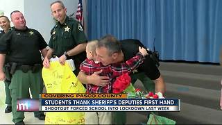Students thank Pasco deputies for keeping them safe during shootout - Video