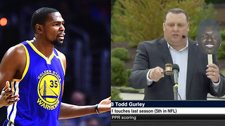 "Kevin Durant BLASTS ""Bum Ass"" ESPN for Get Out-Style Fantasy Football Slave Auction - Video"