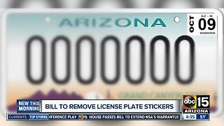 Could removing license plate stickers save the state money? - Video