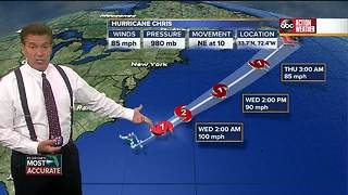 Chris becomes second hurricane of the 2018 Atlantic season - Video