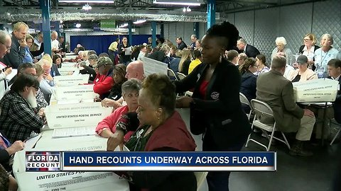 Hand recounts underway across Florida