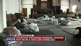 Churches providing warming centers for the homeless - Video