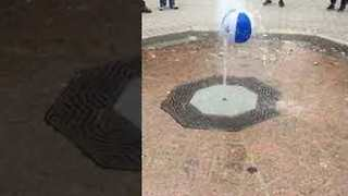 Beach Ball Appears to 'Magically' Levitate in Fountain - Video
