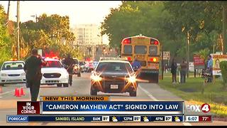 Cameron Mayhew Act singed into law - Video