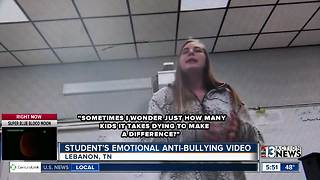 TN student's emotional video goes viral - Video
