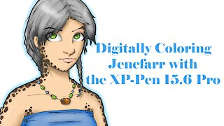 Coloring my Character Jenefarr with my new XP-Pen tablet