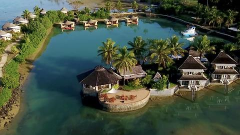 Fiji's crystal blue beaches and lush jungles.