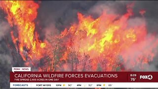 California brush fires