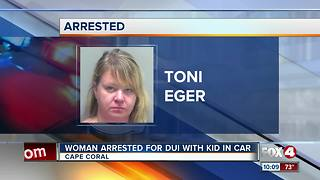 Woman arrested for DUI with her daughter in the car - Video