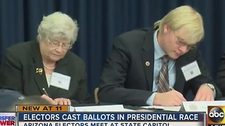 Electors cast ballots in presidential race - Video