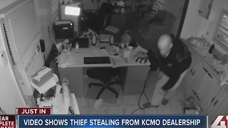 Video shows thief stealing from KCMO dealership