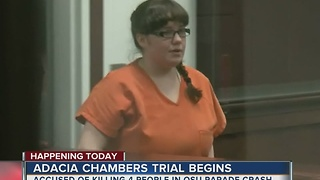 Trial for Adacia Chambers begins - Video