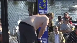 MMA Fighter PUKES During Match, Gets Automatically Disqualified - Video