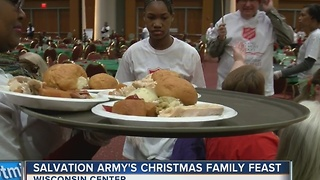 Salvation Army's Christmas Feast Feeds Thousands - Video
