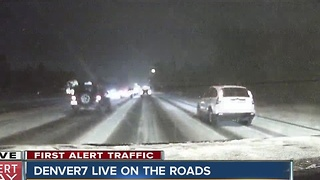 Slick roads make for tough commute as snowstorm moves in - Video