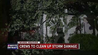 Thursday night storms cause damage across metro Detroit - Video
