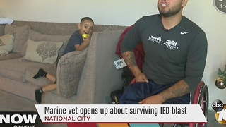 Marine veteran opens up about surviving IED blast - Video