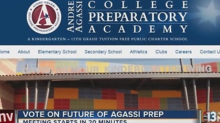 Agassi Prep meeting to decide about takeover - Video