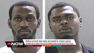 Two suspects arrested in series of break-ins on Detroit's east side - Video