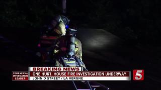 1 Injured, Pets Killed In La Vergne House Fire - Video