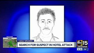 Man accused of sexually assaulting woman in hotel still on loose - Video