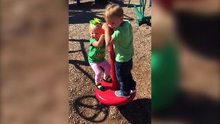 Little Girl Gets Dizzy On The Playground - Video