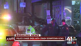 Police chase ends in destructive wreck in KCMO - Video
