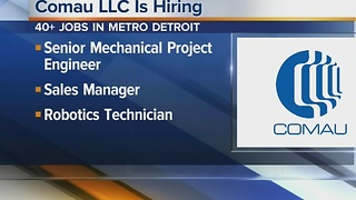 Workers Wanted: Comau LLC is hiring - Video