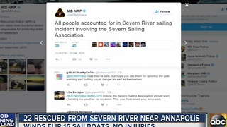 22 rescued from Severn River near Annapolis