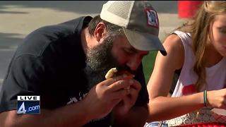 Brian Gotter hosts Summerfest hot dog eating contest