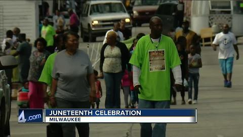 Juneteenth celebration in Milwaukee