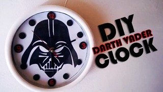DIY Darth Vader wall clock tutorial