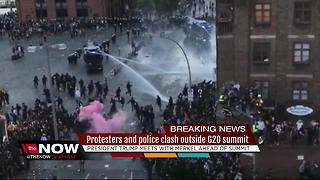 Police, protestors clash ahead of G20 summit in Germany - Video