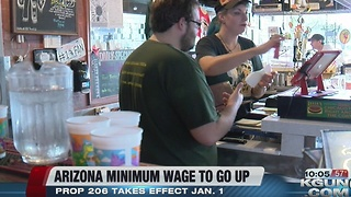Statewide minimum wage will increase on Sunday - Video