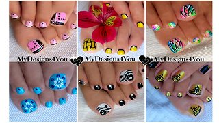 Awesome toe nail art compilation