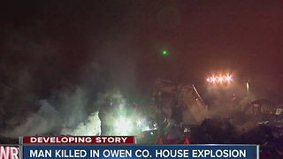 Man killed in Owen co. house explosion - Video
