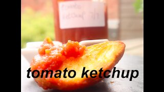 home made tomato ketchup, like the shop bought but better