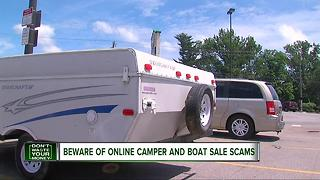 Beware of online camper and boat sale scams