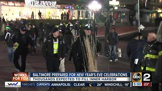 Baltimore prepared for New Year's Eve celebrations - Video