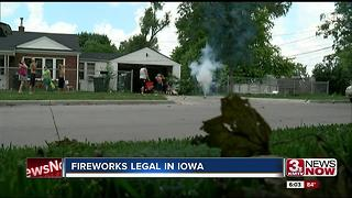 Firework sales now legal in Iowa 6pm - Video