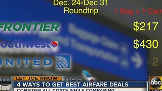 Let Joe Know: Here's how to get the best deals for your holiday flight - Video