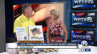 Veteran collecting books for military - Video