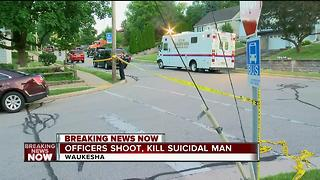 Police shoot, kill suicidal man in Waukesha - Video