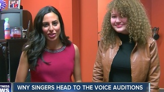 WNY singers head to The Voice auditions - Video