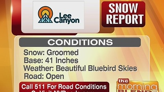 Lee Canyon Snow Report 12/30/16 - Video