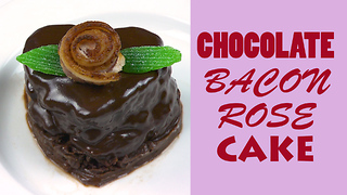 Valentine's chocolate cake recipe with bacon! - Video