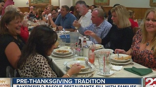 Pre-Thanksgiving tradition Basque food - Video